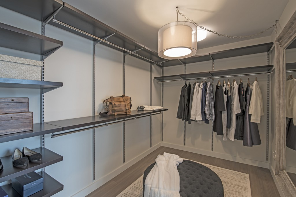 7.Our oversized elfa Décor closet systems will make your morning routine a bit less hectic