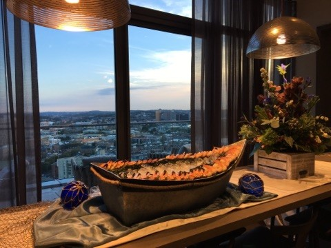 Guests enjoyed a fresh raw bar.