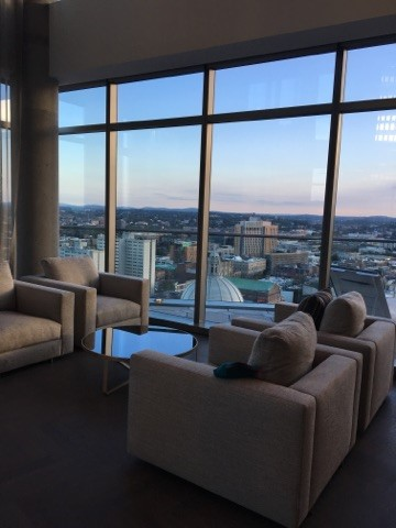 European inspired furniture perfect for enjoying the view.