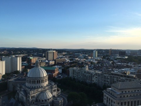 View of the Christian Science Center.